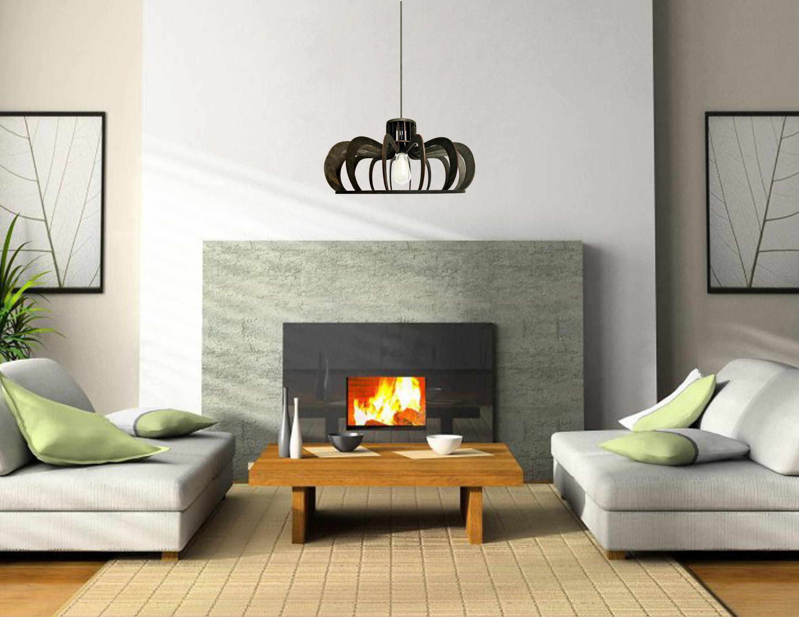 Decke leuchten Esszimmer Beleuchtung Holz Kronleuchter Küche | Etsy