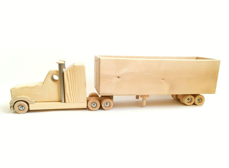 Wood Lorry Big Truck Trailer Wooden Toys For Boys Car Lovers