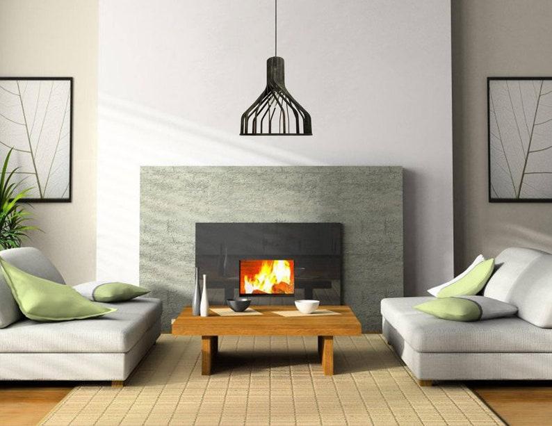 Decken Kronleuchter Modern ~ Holz anhänger beleuchtung moderne decke licht lampenschirm aus etsy
