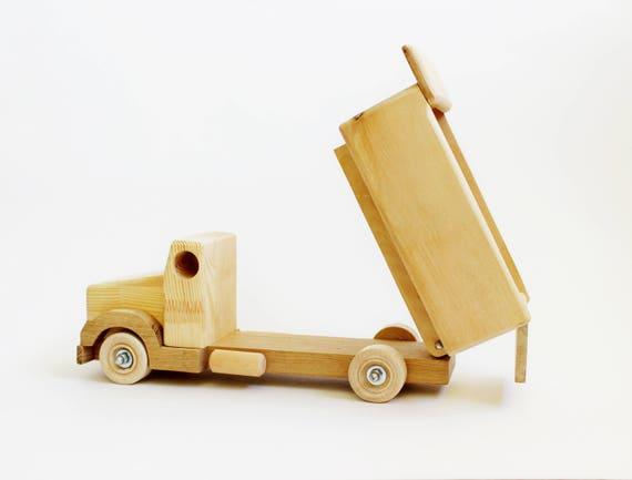 Handmade Wooden Early Model Toy Dump Truck