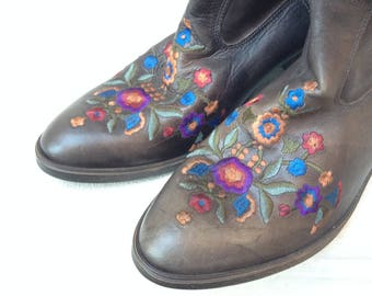 Cowboy-Stiefel mit Stickerei Größe 41