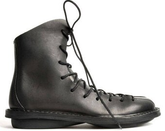 Trippen Liv f Boots Brown New Genuine Leather Laces Size EU36 US6 UK3,5