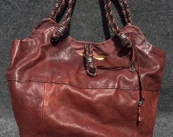 618239df5740b Schöne Handtasche THE SAK Hippie 41x30x20cm