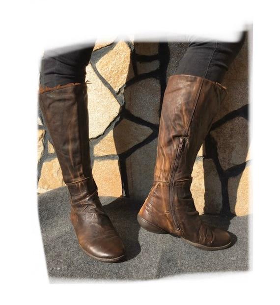 Trippen Flat Boots Brown EU 36