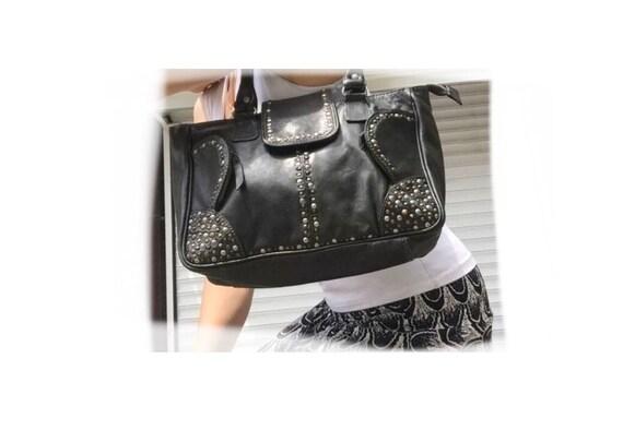 Small handle bag BIBA with pins 31x22x10cm