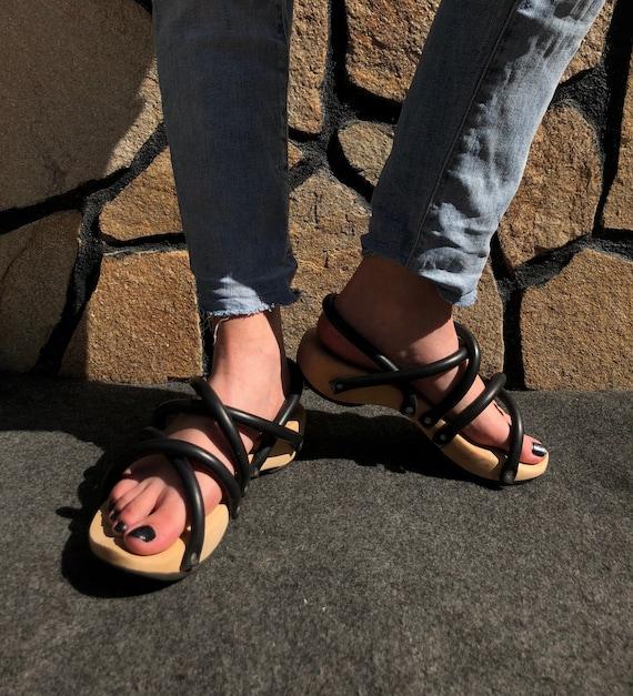 Trippen Wooden Sandals Rubber EU 35,5