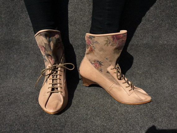 Victorian Retro Leather Boots EU 38