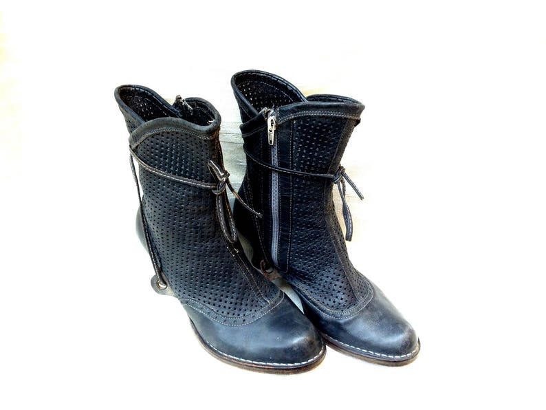 785a6e8687300 Retro Vintage Boots 20s Old-Fashioned Neosens Size 42