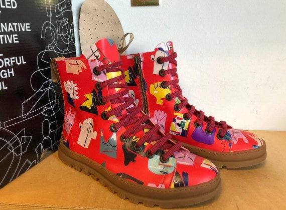 Crazy Laced Comic Biker Boots EU37