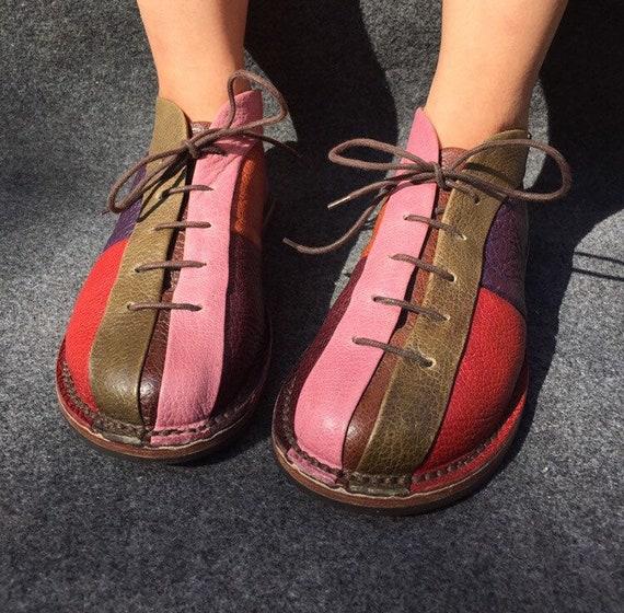 Trippen Patchwork Oxford Flat Shoes EU 40