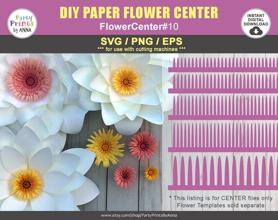 Svgpng paper flower center rolled fringe paper flower etsy image 0 mightylinksfo
