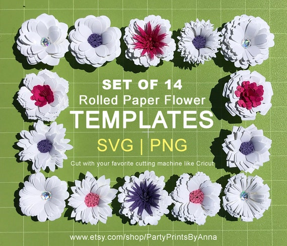 14 small rolled svg paper flower templates2 inch rolled paper etsy image 0 mightylinksfo
