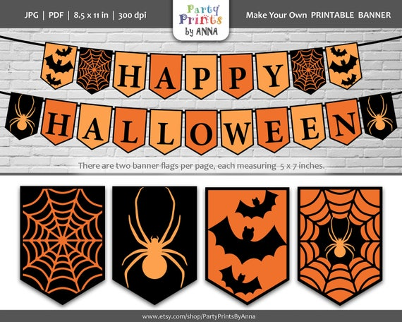 picture relating to Halloween Banner Printable identify Products and solutions very similar in the direction of Printable Joyful Halloween Banner,Halloween
