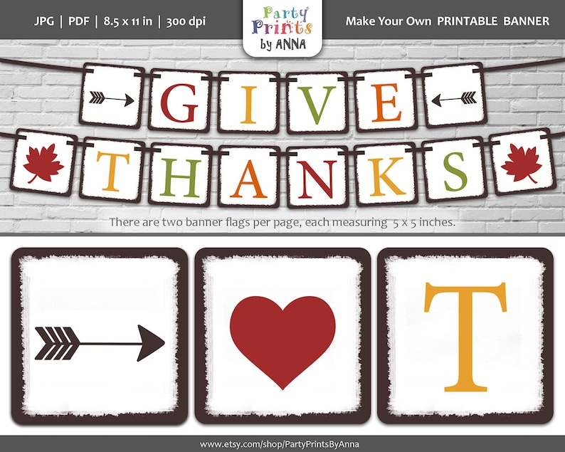 graphic about Thanksgiving Banner Printable referred to as Deliver Owing Printable Banner, Do it yourself Sq. Thanksgiving Banner,Drop Colours Letter Banner,Sq. Bunting Garland,Do-it-yourself Printable Tumble Decorations