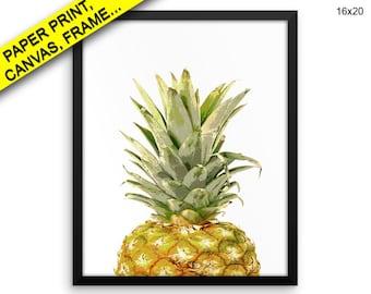 0dd44e9630e6 Pineapple Wall Art Framed Pineapple Canvas Print Pineapple Framed Wall Art  Pineapple Poster Pineapple Nature Art Pineapple Nature Print