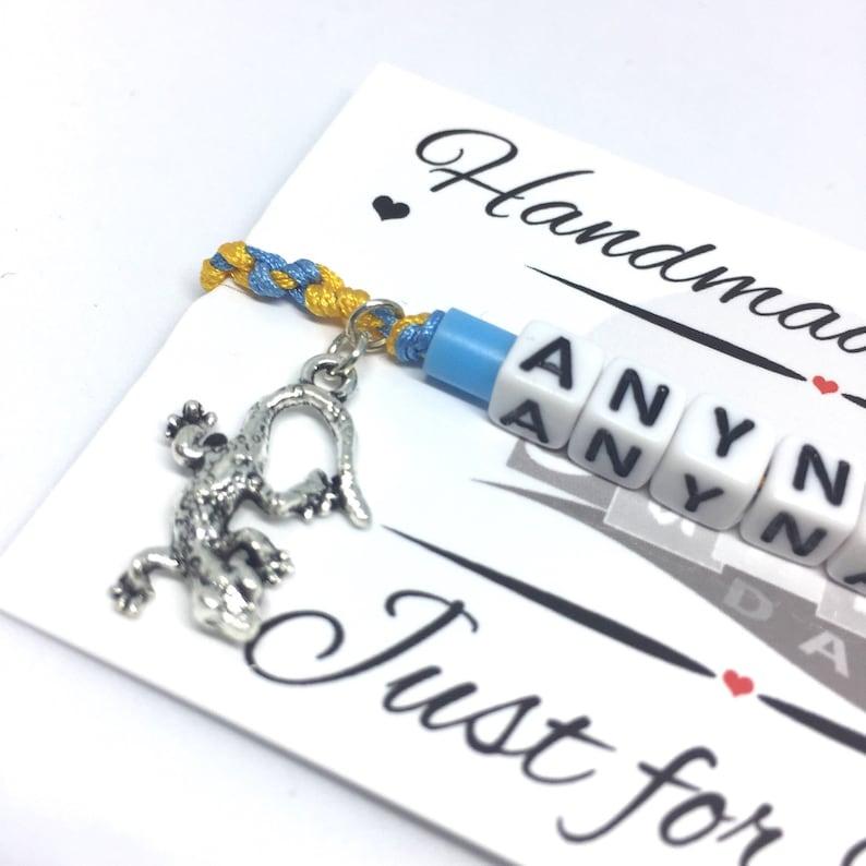 Lizard Gift Ideas Animal Lover Gecko Charm Bracelet Custom Name Bracelet Boho Unisex Jewellery Personalised Gecko Friendship Bracelet