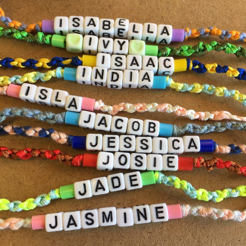 Personalised Gifts Kids Gift Friendship Bracelet Name Bracelet Personalised Jewellery Friendship Gift Custom Bracelet Custom Name