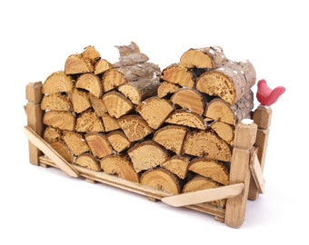 Department 56 Natural Wood Log Pile Accessory Christmas Dickens Village, Village Accessories Collection