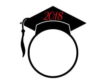Digi-tizers Graduation 2018 Monogram frame (SVG Studio V3 JPG) **Full circle alphabet letters INCLUDED!**