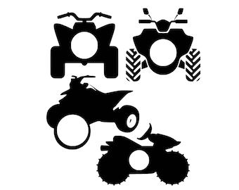 Digi-tizers ATV Monogram Frames (SVG Studio V3 jpg) **Full circle alphabet letters INCLUDED!**