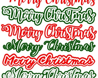 Digi-tizers Merry Christmas Word Art (SVG Studio V3 JPG)