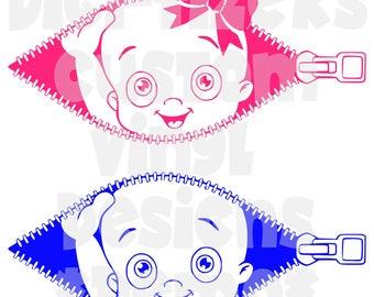 Digi-Tizers Peek-a-boo Baby in zipper maternity  (SVG Studio V3 JPG)