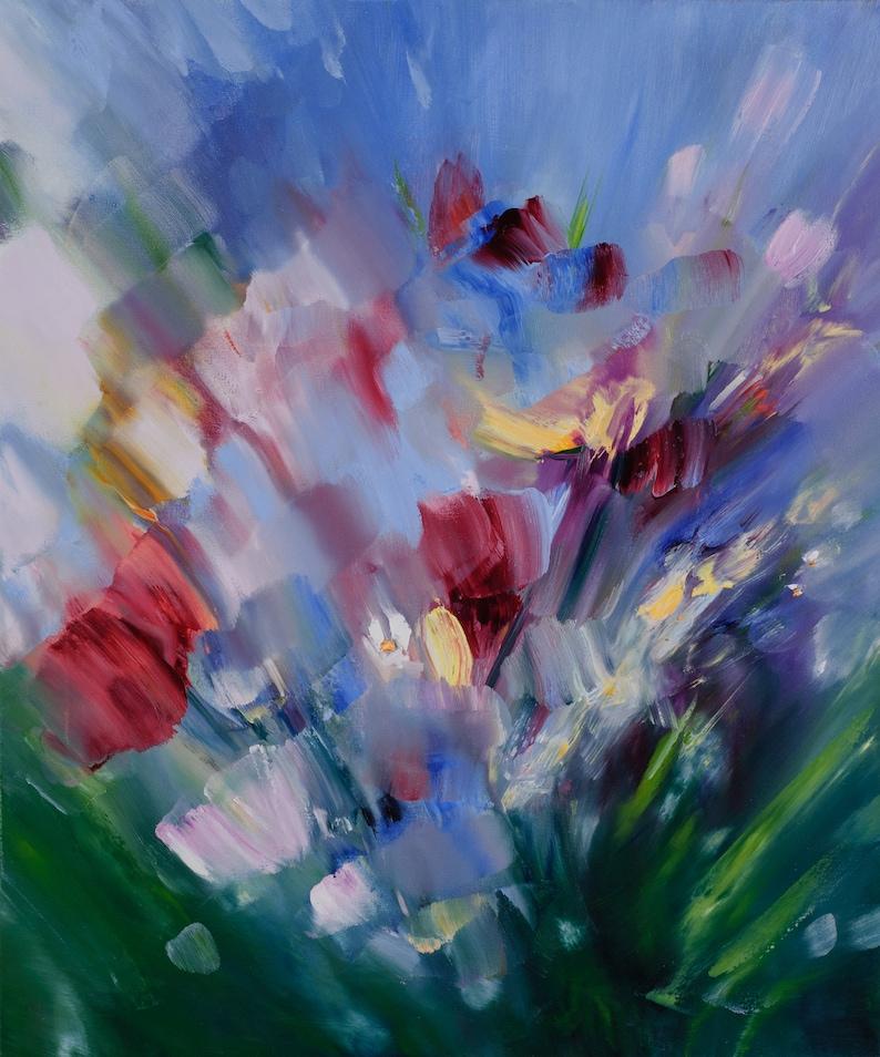 Fiori dipinto ad olio pittura astratta vita meravigliosa | Etsy