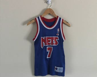 8e5337be8 Vintage Authentic Champion NBA New Jersey Nets Basketball Jersey (Kenny  Anderson  7)