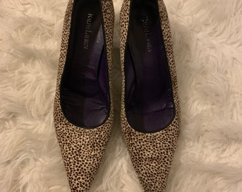 aeeeae3c5e Vintage Ralph Lauren Purple Label Cheetah Print Pumps