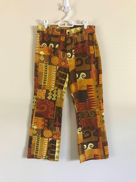 Vintage 70s Aztec Print Pants - image 2