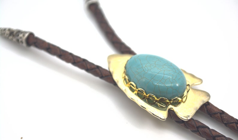 Handmade Turquoise Western Bolo Tie image 0