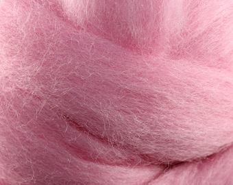 Wool Roving - 1oz - Pink