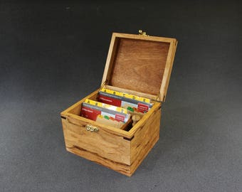 Recipe Card Box Two Sizes And A Little Hidden Compartment