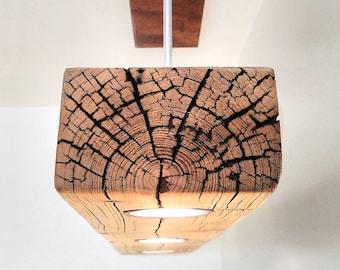 reclaimed wood light etsy