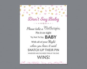 photograph relating to Don't Say Baby Sign Free Printable named Dont Say Twins Sport Printable Dont Say Little one Signal Kid Etsy