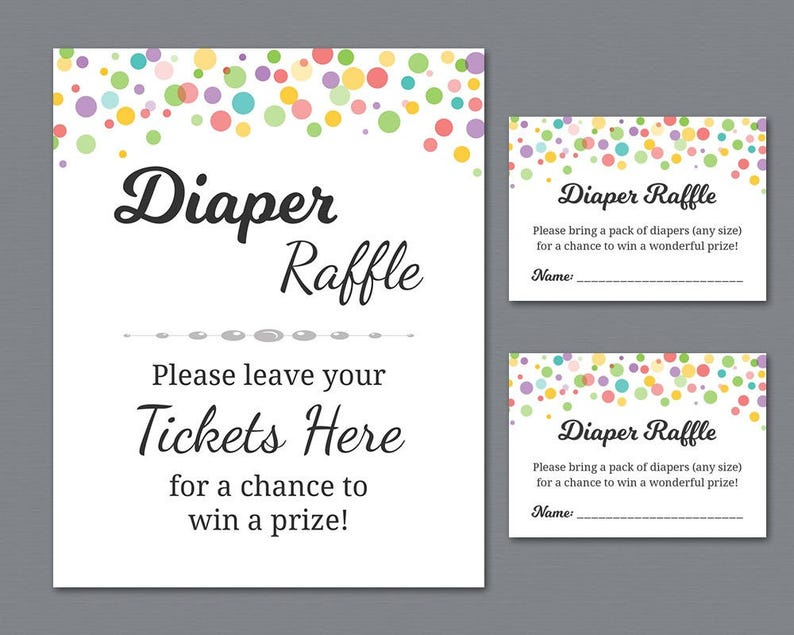 photo regarding Printable Diaper Raffle Tickets named Rainbow Diaper Raffle Tickets Printable, Diaper Raffle Indicator, Colour Dots Little one Shower Game titles, Diapers, Hues, Instantaneous Obtain, B010