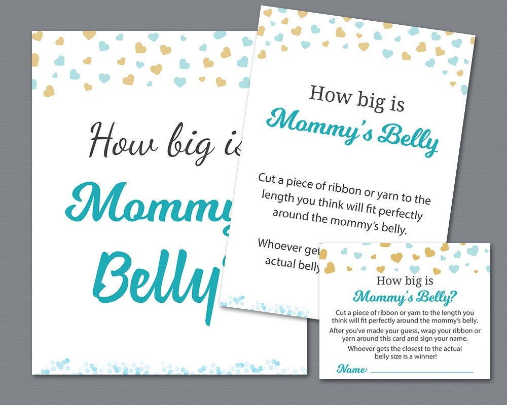 It is a photo of Massif How Big is Mommy's Belly Free Printable
