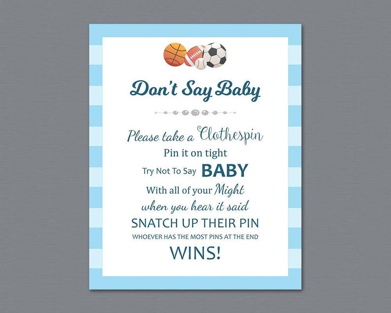 photograph relating to Don T Say Baby Game Printable identify Dont Say Child Sport Printable, Dont Say Kid Indicator, Sporting activities Concept, Little one Shower Game titles, Soccer, Football, Basketball, Clothespin Match, B011