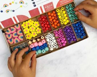 Personalised Rainbow Colours Bracelet Making Kit