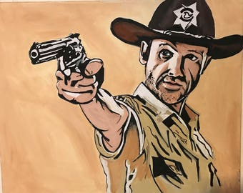 Rick Grimes The Walking Dead 20x16 Acyrlic
