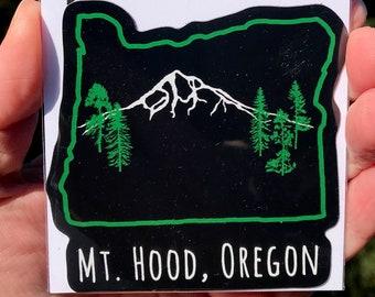 "Mt Hood Oregon Vinyl Sticker 3"" x 3"""