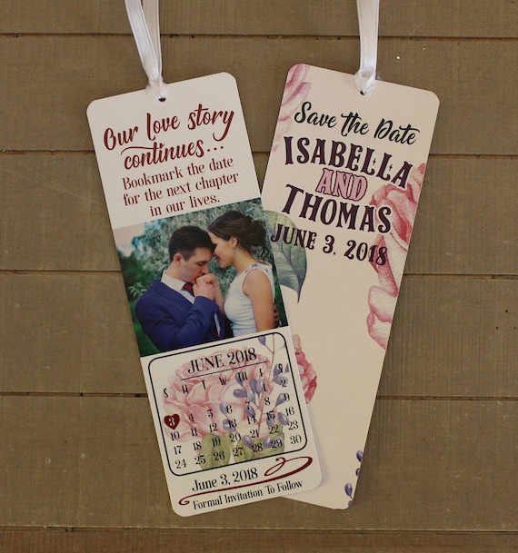 customized save the date bookmark save the date bookmark etsy