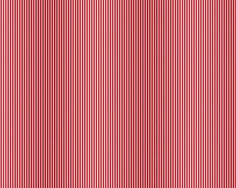 Red Stripe Cotton Fabric - Bloom and Bliss - Riley Blake Fabric- Perfect for Clothing, Nursery, Quilts