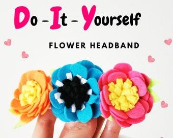 DIY Festive Flower Headband - Make it yourself