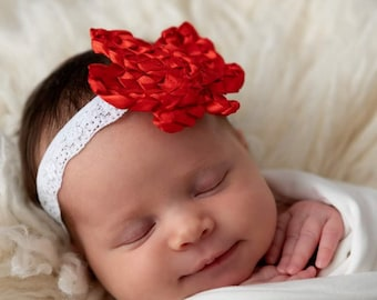 A very Canadian red maple leaf headband