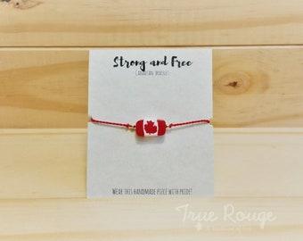 58e7d57c1d2e Adjustable Canada Flag Bracelet