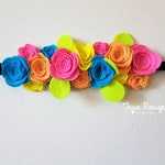 Carnival Felt Flower Crown for Fiesta Party Birthday