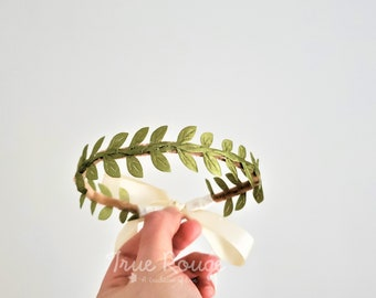 Green Fabric Leaf Crown - Botanical Outfit