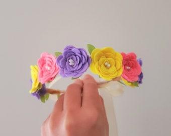 Rainbow Petit Fiesta Baby Flower Crown