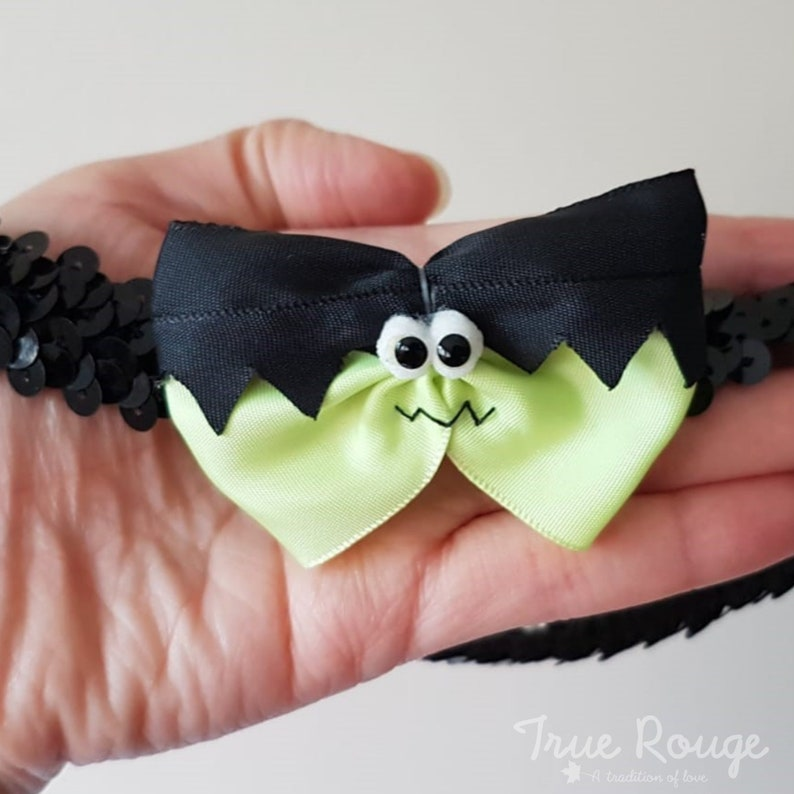 Frankenstein's Monster Hair Bow Headband image 0